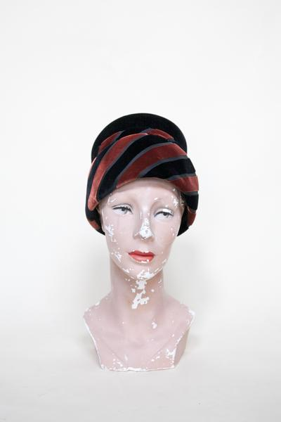 1960s velour hat from Dalena Vintage