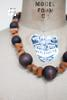 Vintage wooden beaded necklace